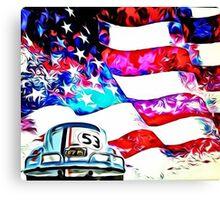 Herbie Patriot Painting Canvas Print