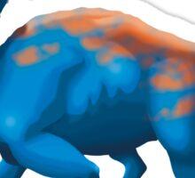 Blue Chasmosaurus Digital Painting Sticker