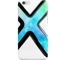 Watercolor - X - blue iPhone Case/Skin