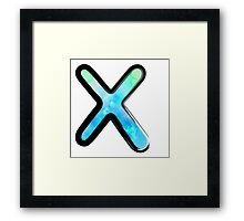 Watercolor - X - blue Framed Print