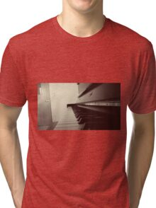 Piano in Black & White Tri-blend T-Shirt
