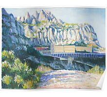 Montserrat Mountain Monastery, Barcelona, Spain Poster