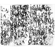 abstract typography_1 Poster