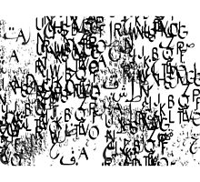 abstract typography_1 Photographic Print