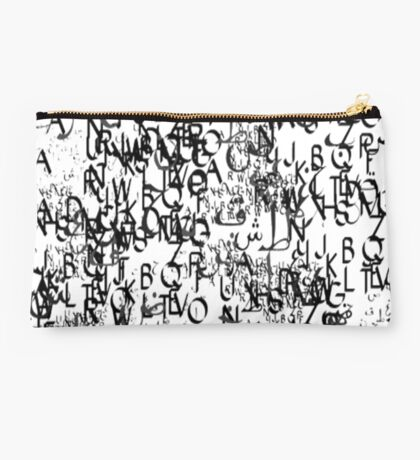 abstract typography_1 Studio Pouch