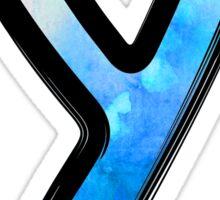 Watercolor - Y - blue Sticker