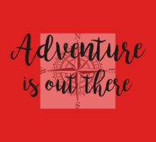 Adventure is out there (Compass) (Only intended for white clothing) One Piece - Short Sleeve