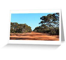 Yellowdine Track Outback WA Greeting Card