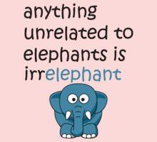 Funny Cartoon Elephant  Kids Tee
