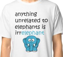 Funny Cartoon Elephant  Classic T-Shirt