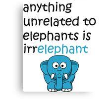 Funny Cartoon Elephant  Canvas Print