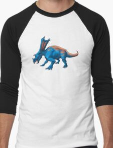 Blue Chasmosaurus Men's Baseball ¾ T-Shirt