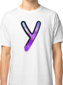Watercolor - Y - purple Classic T-Shirt