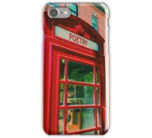 Poetry Phone Booth iPhone Case/Skin