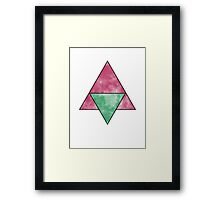 two (four) triangles Framed Print