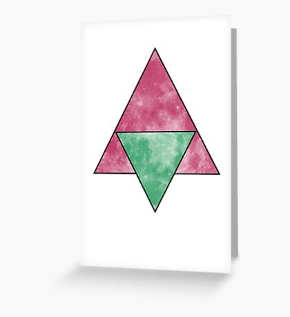 two (four) triangles Greeting Card