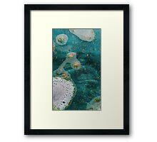Green Water Marbling Framed Print
