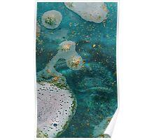 Green Water Marbling Poster