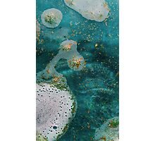Green Water Marbling Photographic Print