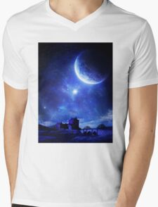 Silent Water Mens V-Neck T-Shirt