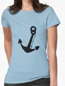 Nautical Anchor Womens Fitted T-Shirt