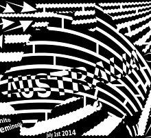 Black and white Australian flag maze by Elenapinker