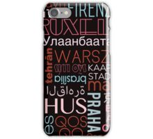 Text and the City in Multi Retro/Black iPhone Case/Skin