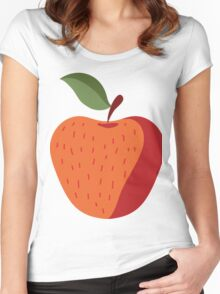 Elegant and Cool Apple Vector Design Women's Fitted Scoop T-Shirt