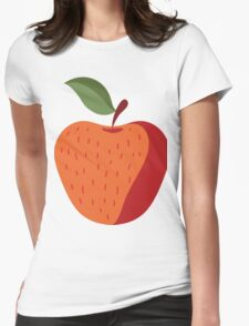 Elegant and Cool Apple Vector Design Womens Fitted T-Shirt