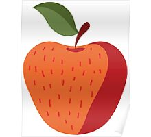 Elegant and Cool Apple Vector Design Poster