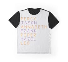 Percy Jackson Group Names Graphic T-Shirt