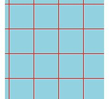 Citymap Grid - Blue/Airline Orange Photographic Print