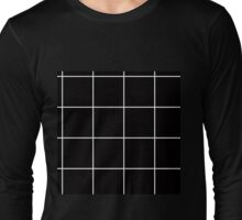 Citymap Grid - Black/White Long Sleeve T-Shirt