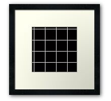 Citymap Grid - Black/White Framed Print