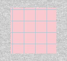 Citymap Grid - Pink/Blue Long Sleeve T-Shirt