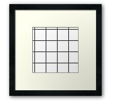Citymap Grid - White/Black Framed Print