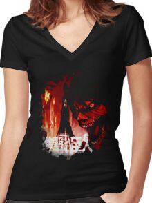 Titan Eren Form Women's Fitted V-Neck T-Shirt