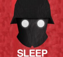 Sleep Tight Soldier Silhouette  Sticker