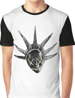 THE PURGE: liberty MASK BW Graphic T-Shirt
