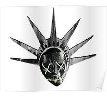 THE PURGE: liberty MASK BW Poster