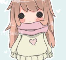 Winter Chibi Girl - Blue Sticker