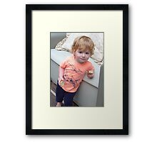 Strawberry Blonde Cutie Framed Print