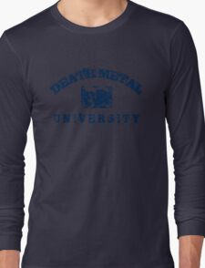 DEATH METAL UNIVERSITY - BLUE Long Sleeve T-Shirt