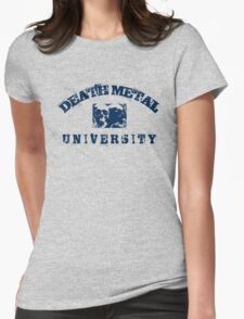 DEATH METAL UNIVERSITY - BLUE Womens Fitted T-Shirt