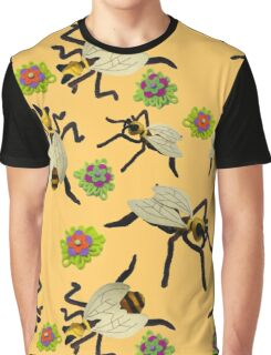 Felt Dancing Bee Sculptures Graphic T-Shirt