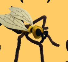 Felt Dancing Bee Sculptures Sticker