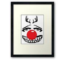 Red nose parody Framed Print