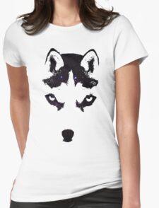 Husky Night Womens Fitted T-Shirt