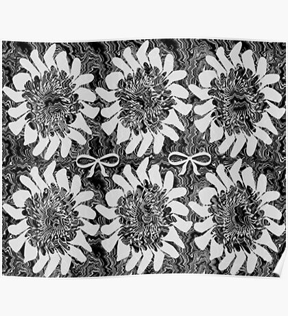 Black and White Floral Poster