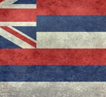 State Flag of Hawaii,  retro style vintage 1-2 scale version Sticker